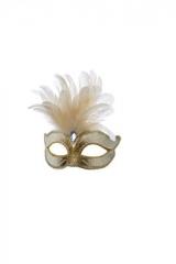 Maske große Feder II Maskenball Fasching Karneval