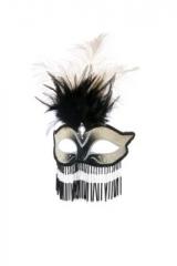 Maske Venedig mit Perlen Maskenball Fasching Karneval