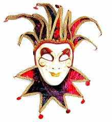 Joker Venedig hängend Dekoration Fasching Karneval