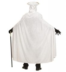 Weißer Umhang mit Kapuze in Einheitsgröße Unisex