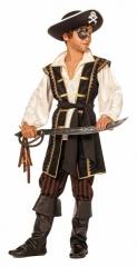 Pirat Freibeuter Seeräuber Kostüm für Kinder 116 128 140 152 164