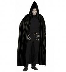 Schwarzer Umhang mit Kapuze Halloween