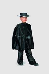 Schwarzer Umhang (kurz) Zorro Kinderfasching Kostüm