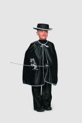 Cape schwarz trilobe Kinderfasching Kostüm Karneval