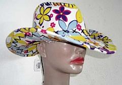 Hippie 70er Jahre Cowboyhut Flower Schlagerparty