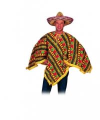 Poncho Higuitta Mexikaner Herrenkostüm Fasching Motto
