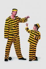 Western Sträfling Knacki Gefangener Kinderfasching