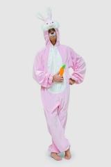 Hase Hasenkostüm Bunny rosa Osterhase Junggesellenabschied Plüschkostü