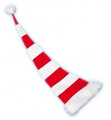 Nikolaus Weihnachtsmann Mütze Ringel 100cm Partyspass