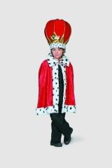 Prinzen-Cape rot Kinderfasching Kinderkostüm Karneval