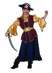 Piratin Hawkeye Faschingskostüm Karneval Kinderparty Seeräuberin Mädch