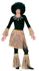 Bastrock Hawaii Set Kanibale Afrikaner 5-tlg. Karneval Fasching Kostüm