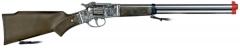 8-Schuss-Gewehr Cowboy Zubehör Wilder Westen Westerngewehr Sheriff