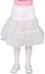 Petticoat Kinder knielang weiß Fasching Karneval