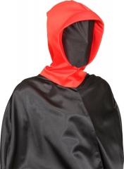 Maske Bizzar Fetisch Morphmaske mit Kaputze  rot oder lila Halloween