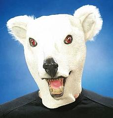 Eisbär Eisbärmaske Vollkopfmaske Karneval Fasching Kostüm