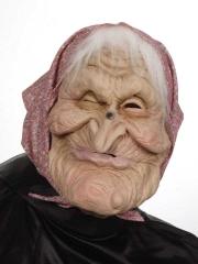 Hexenmaske Hexe mit Haar Karneval Halloween Fasching