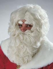 Nikolaus Weihnachtsmann Santa Claus Bart Perücke Augenbrauen