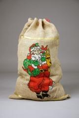 Jutesack bedruckt Nikolaus Weihnachtsmann 50 x 80 cm