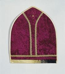 Mitra Sankt Nikolaus weinrote Bischofsmütze aus Pannesamtamt