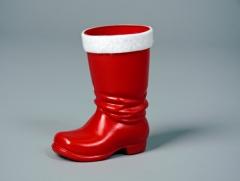 Roter Plastikstiefel Nikolaus Weihnachtsmann Santa Claus Accessoires