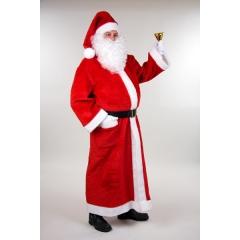 Weihnachtsmann Nikolaus Santa Claus Plüschmantel lang