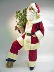 Nikolaus Weihnachtsmann Santa Claus Kostüm Waschsamt Rustikal