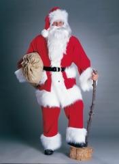 Nikolaus Weihnachtsmann Kostüm Hochwertiger Kordanzug