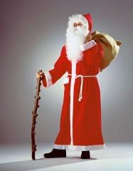 Nikolaus Weihnachtsmann Santa Claus Mantel + Bart + Haarkranz + Jutesa