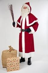 Nikolaus Weihnachtsmannmantel mit Pellerine Santa Claus Weihnachtsfest