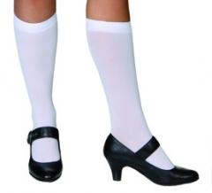 Damenkniestrümpfe weiß Accessoires Oktoberfest Wiesn