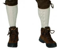 Kniebundstrümpfe lang natur Oktoberfest Wiesn Zubehör