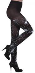 Spinnenstrumpfhose mit Spinnen Spinnennetz Halloween