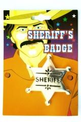 Sheriff-Stern Karneval Fasching Mottoparty Zubehör