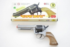 Cowboy Pistole Plastik 8-Schuss Fasching Karneval