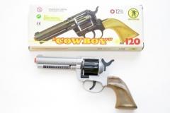 Cowboy-Pistole Plastik 12-Schuss Fasching Karneval