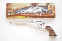 Cowboy Pistole Metall 8 Schuss lang Fasching Karneval