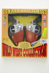 Holster Set Pistolen Cowboy Sheriff Fasching Karneval