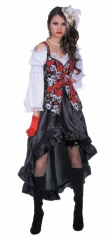 Piratin Black Rose Seeräuberbraut Karneval Fasching
