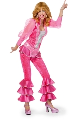 Mama Mia de luxe Damen 70er 80er Jahre Kostüm Mottoparty Schlagerparty