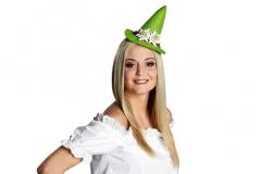Tiroler Hut Edelweiß Trachtenhut Seppelhut Minihut grün oder braun Far