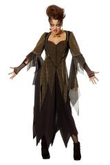 Hexe Hexenkleid Vampirin Fetzenkleid gold auch in Übergröße 36 bis 56