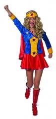 Wondergirl Damenkostüm Verkleidung Superwoman Partygirl Fasching