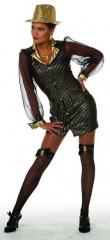 Gangster Dame Kostümfest Damenverkleidung Partykostüm Fasching