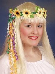 Hippie Blütenkranz 70er Blumenmädchen Karneval Fasching