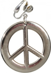 Hippie Set Peace Kette Ohrringe Schlagerparty Hippieparty Accessoires