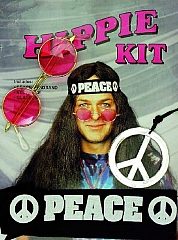 Hippie Peace Zubehör 60er Jahre Karneval