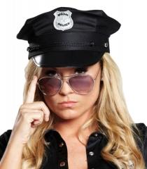 Polizeimütze Polizeikappe schwarz Polizei Unisex in 2 Größen lieferbar