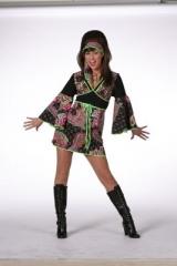 Hippie 70er 80er Jahre Kleid Schlager Themen Mottoparty