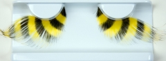 Bienen Wimpern gelb schwarz Fasching Karneval Zubehör